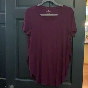 American Eagle burgundy shirt XXL
